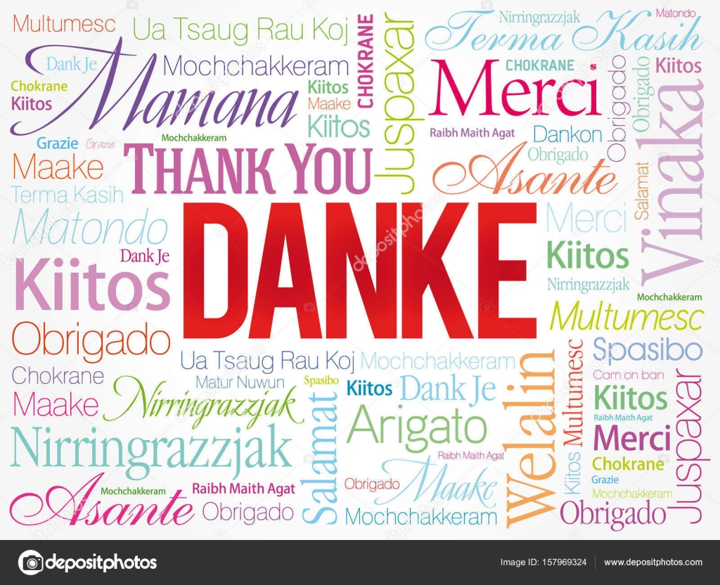 danke thank you in german ストックベクター dizanna 157969324