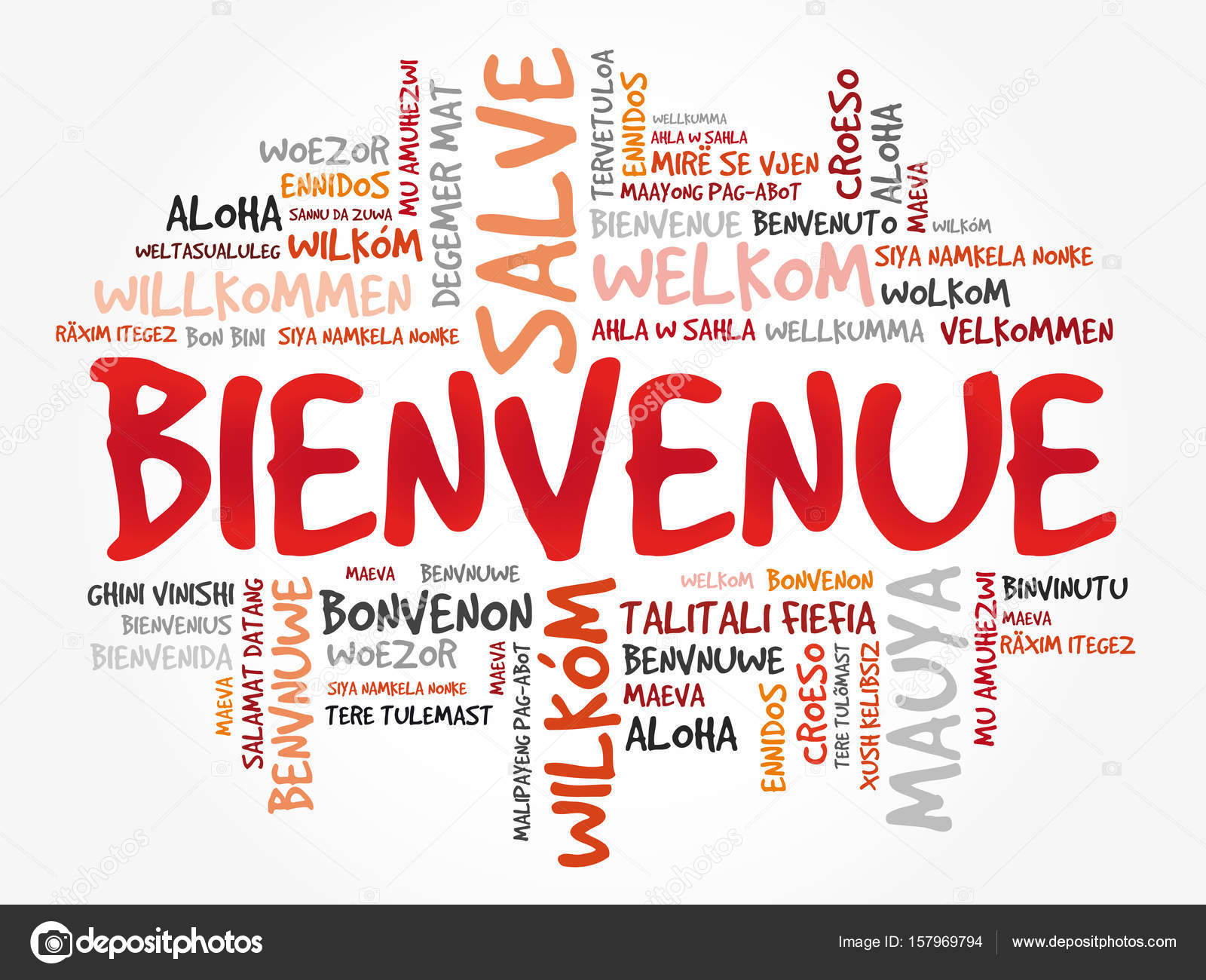 how to say welcome in french language