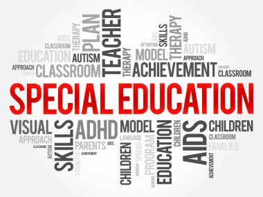 Special Education word cloud collage