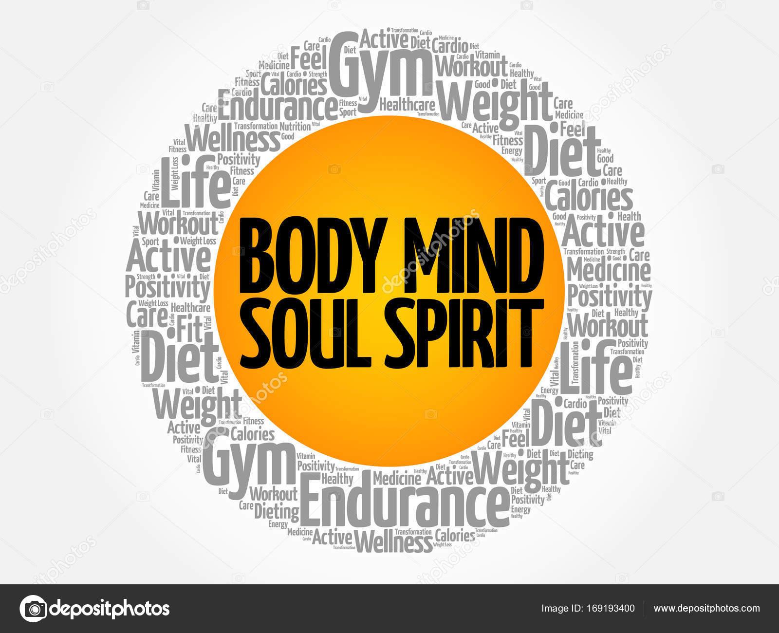 Body Mind Soul Spirit circle — Stock Vector © dizanna #169193400