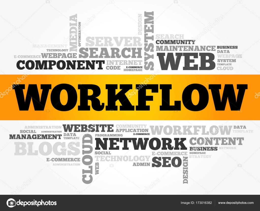 WORKFLOW word cloud — Stock Vector © dizanna #173016382