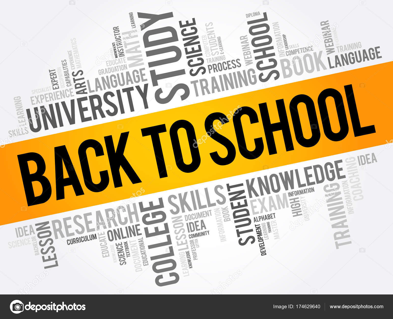 Back To School Word Cloud Collage Stock Vector Dizanna 174629640