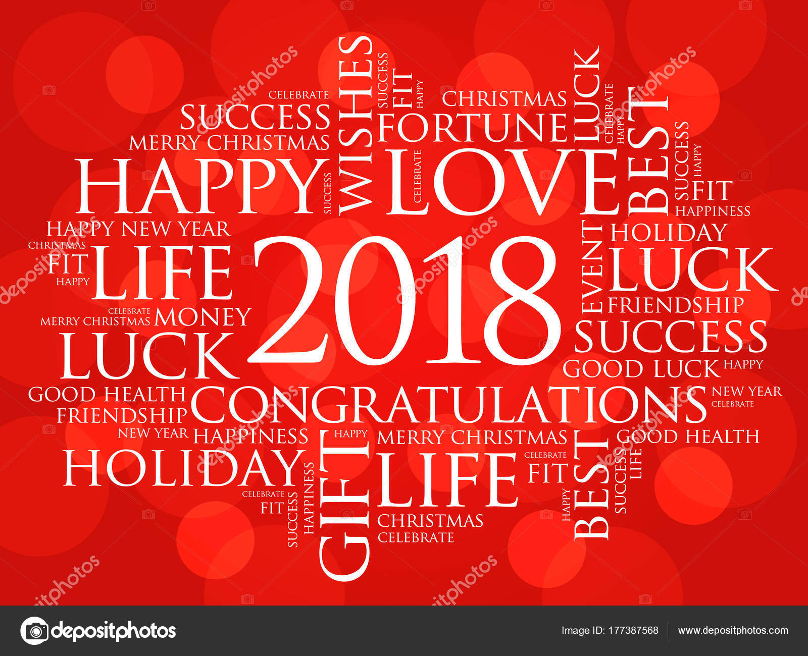 2018 year greeting word cloud collage stock vector dizanna 2018 year greeting word cloud collage happy new year celebration greeting card vector by dizanna m4hsunfo Image collections