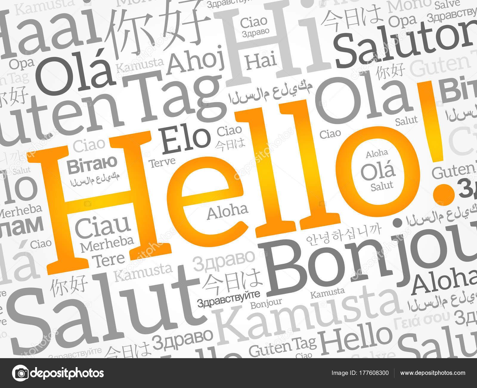 Nube De Palabras Hola En Diferentes Idiomas