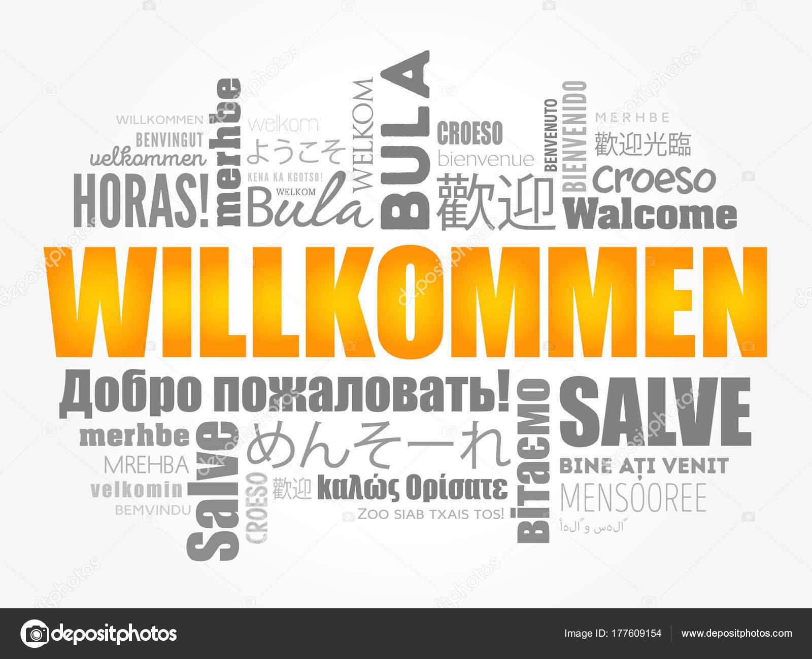 Frases Para Collage De Familia Willkommen Welcome En