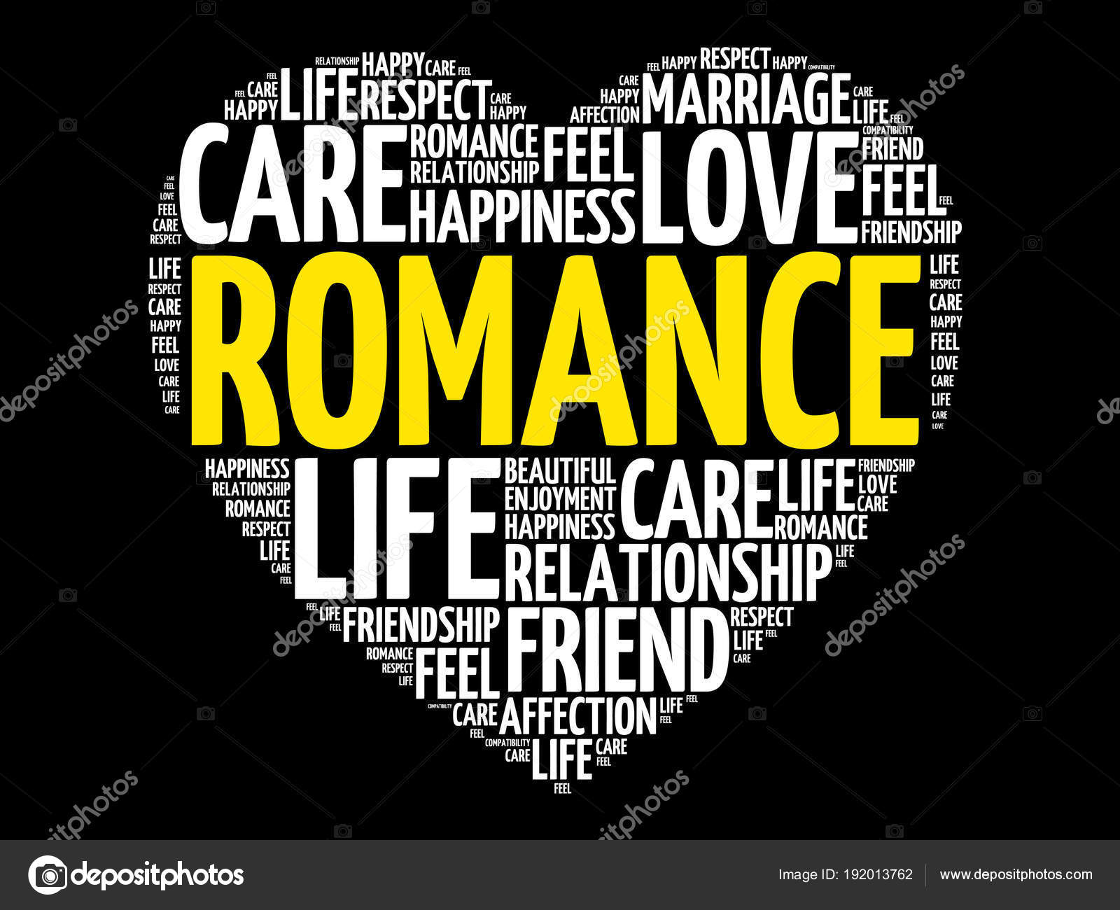 romance word cloud collage stock vector dizanna 192013762
