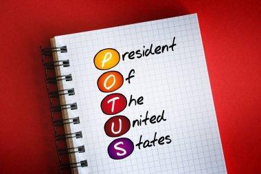 POTUS - President of the United States acronym