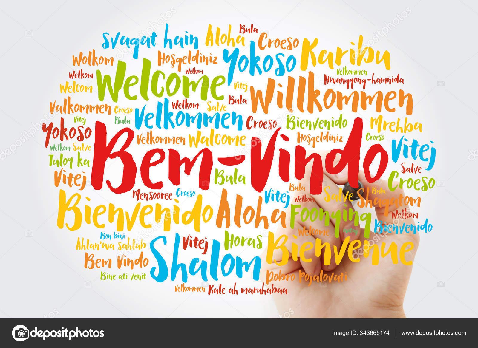 Bem Vindo Welcome In Portuguese Word Cloud Stock Photo C Dizanna 343665174