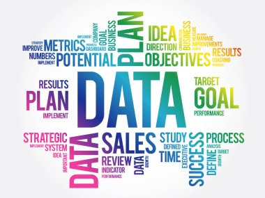 DATA word cloud collage, business concept background