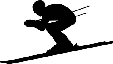 downhill man athlete skiing to competition in alpine skiing