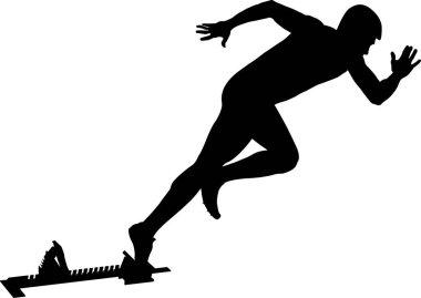 athlete runner start to sprint