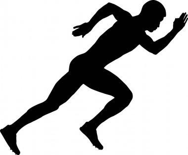 start of a sprinter runner men