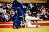 Photo wrestling athletes judoka