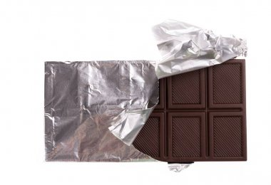 chocolate bar wrapped in foil
