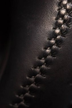 black leather with lacing
