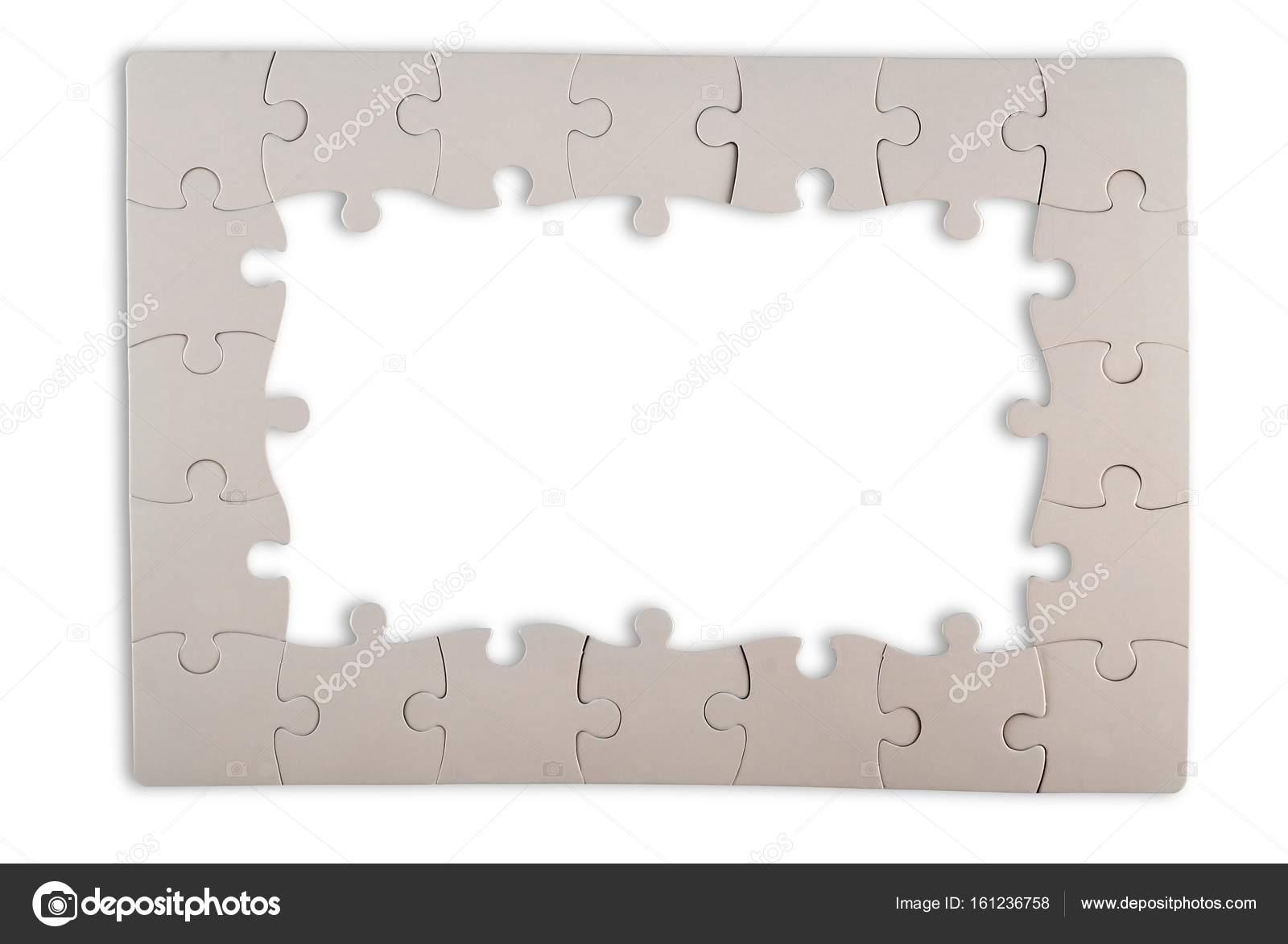 weiße Puzzle Rahmen — Stockfoto © billiondigital #161236758