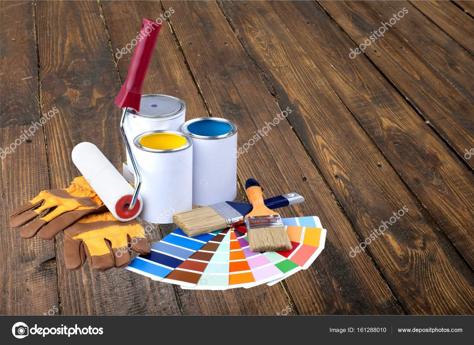 penslar och färg burkar — Stockfotografi © billiondigital  161288010 73a0e00d159ca