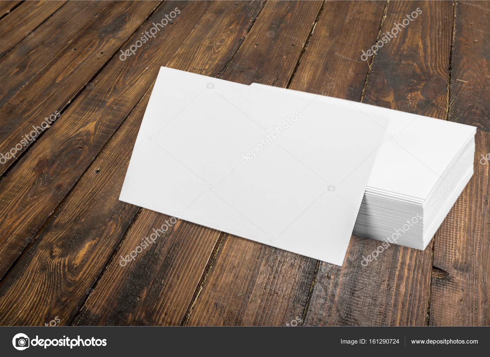 Blank business cards stock photo billiondigital 161290724 blank business cards on wooden background photo by billiondigital reheart Image collections