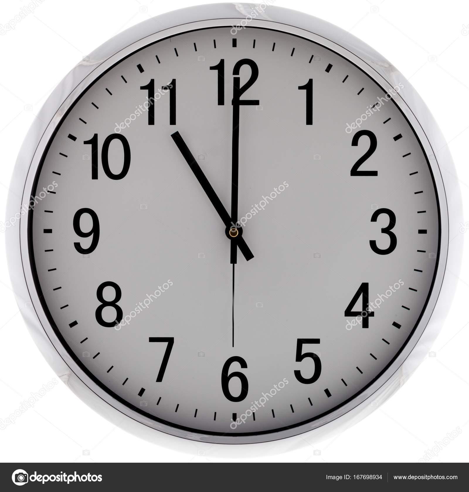 Reloj pared moderno sobre fondo blanco fotos de stock - Relojes de pared ...