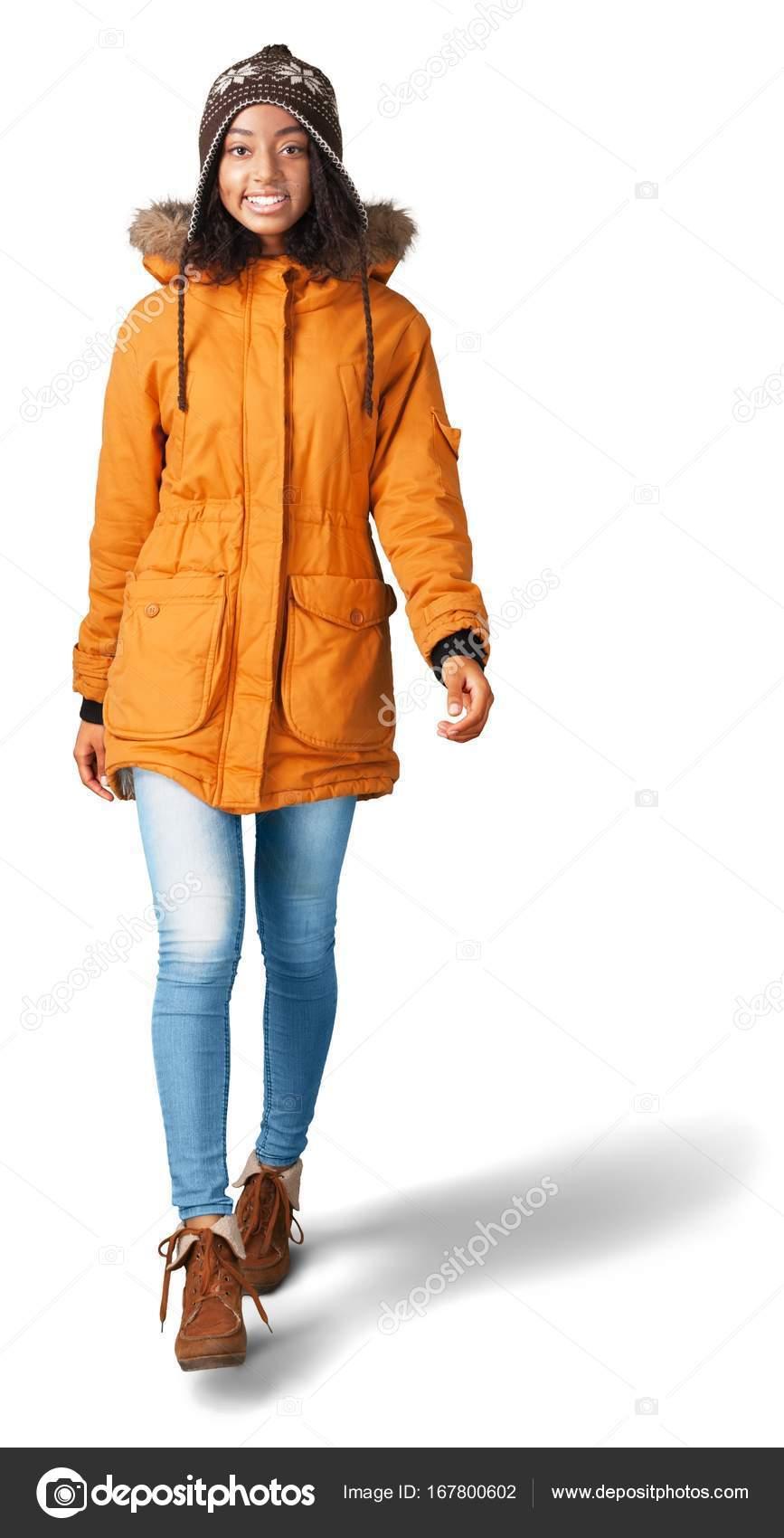 competitive price 6a3a4 2d966 Donna Africana Cappotto Arancione Isolato Priorità Bassa ...