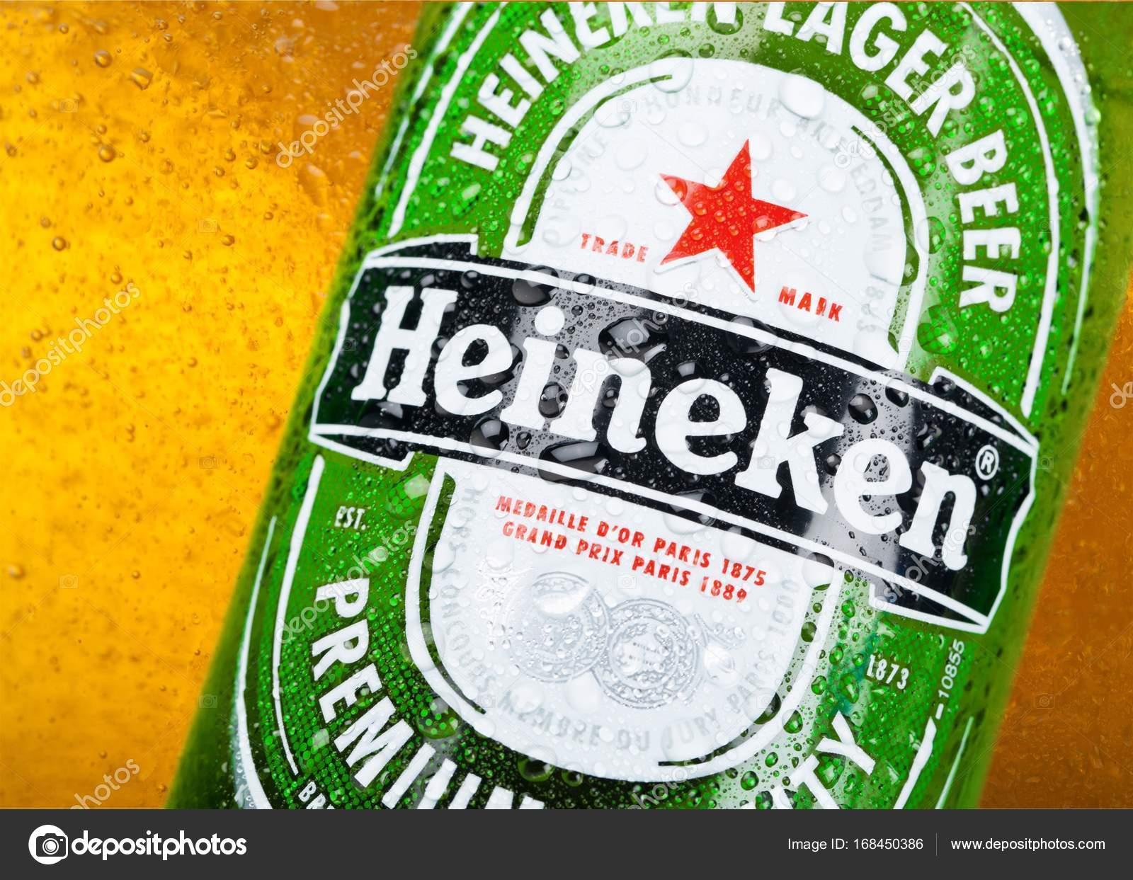 Heineken Beer Bottle Stock Photo