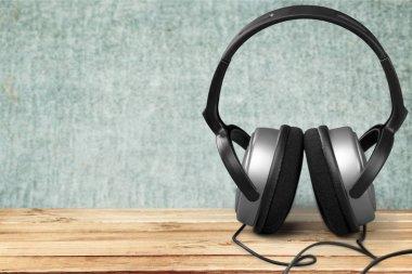Modern white headphones