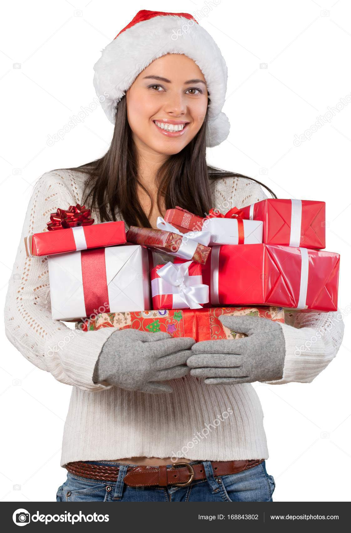 Young girl with christmas gifts — Stock Photo © billiondigital ...