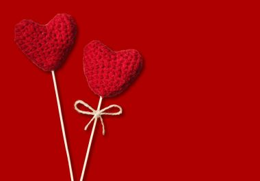 close-up of red hearts for Valentines Day background