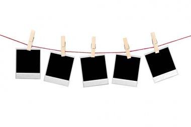 Hanging instant photo frames