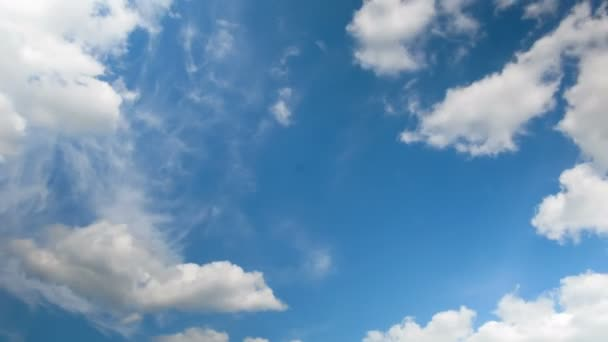 Clouds Moving in the Blue Sky