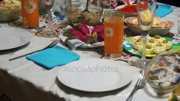 Domácí vaření jídlo na stole