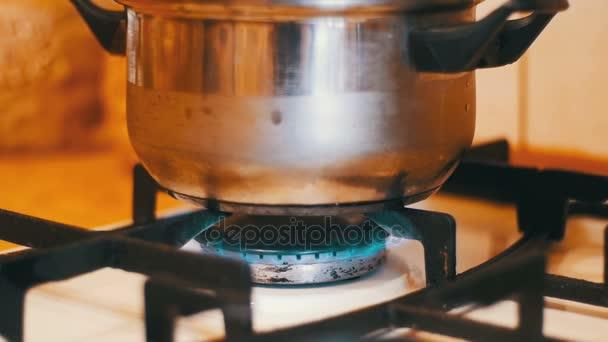 Pánev na plynový sporák. Vaření potravin doma