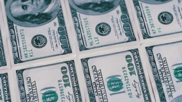 American Money Dollars on Rotating Surface Background