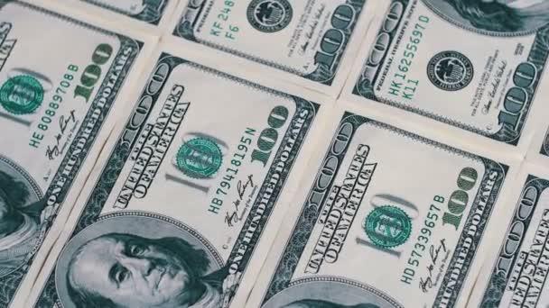 Americké peníze dolarů na rotační plochy pozadí