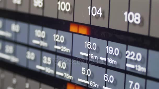 Radio frekvence Dial v měřítku Vintage přijímače