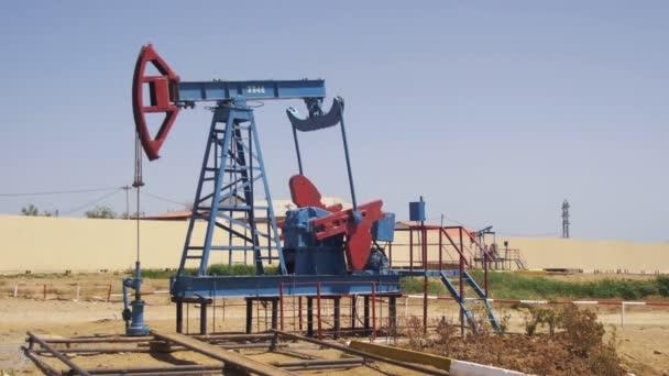 Oil Pump, Pump jack. Fossil Fuel Energy, Old Pumping Unit