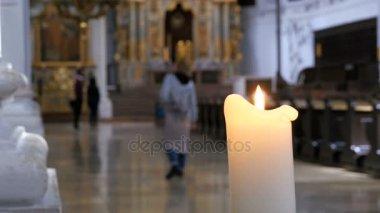 Mooie Bernardine Kerk Interieur Stockvideo Denisfilm 168650858