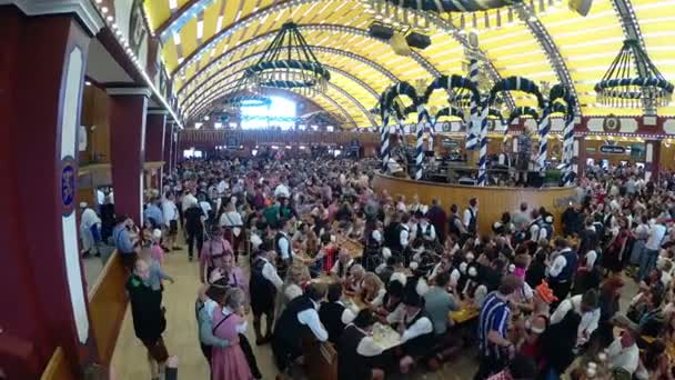 MUNICH ... & People Celebration of Oktoberfest in large beer tent. Bavaria ...