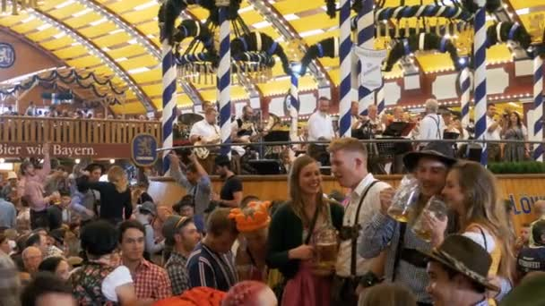 Orchestra band plays inside a large beer tent at the Oktoberfest Festival. Bavaria Germanyu2013 stock footage  sc 1 st  Depositphotos & Orchestra band plays inside a large beer tent at the Oktoberfest ...