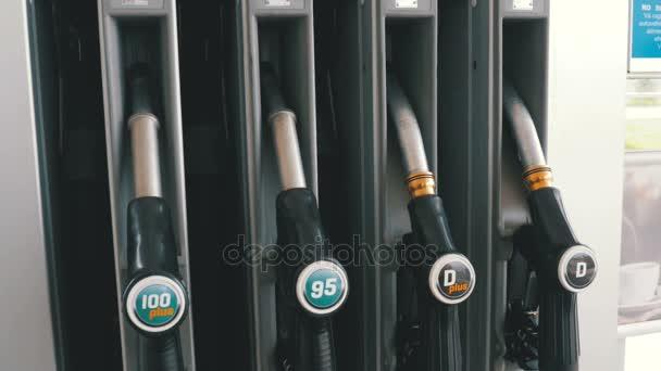 Benzín nebo čerpací stanice plynu palivové čerpadlo tryska. Čerpací stanice. Čerpací stanice