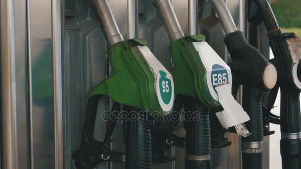 Alte Benzin oder Tankstelle Gas Kraftstoff Pumpe Düse. Tankstelle. Tankstelle
