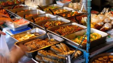 Asian street food in the streets of Thailand. Pattaya.