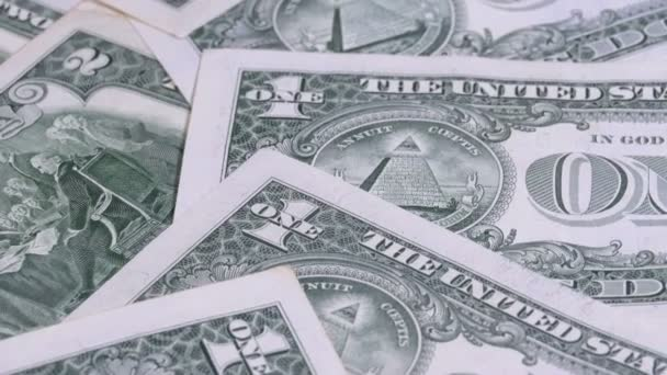All seeing eye on the one dollar. The reverse side of the dollar denominations of 1 dollar