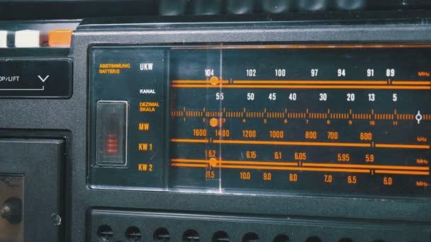 Analóg telefonos rádiófrekvenciás skálán a szüreti vevő tuning