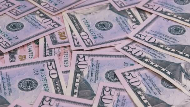 Otočit pozadí americké bankovky hodnoty 50 dolaru