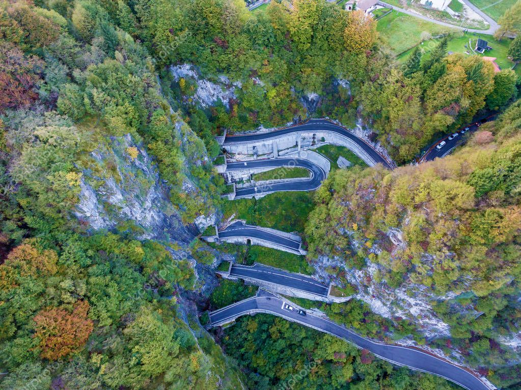 Tunnel roads in the mountains.