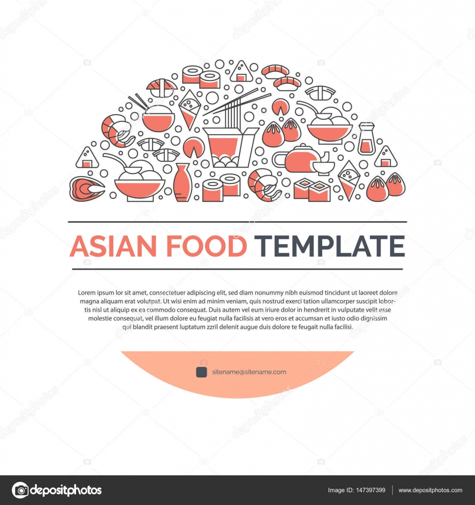 Sushi-Web-templates — Stockvektor © SvetaGaintseva #147397399