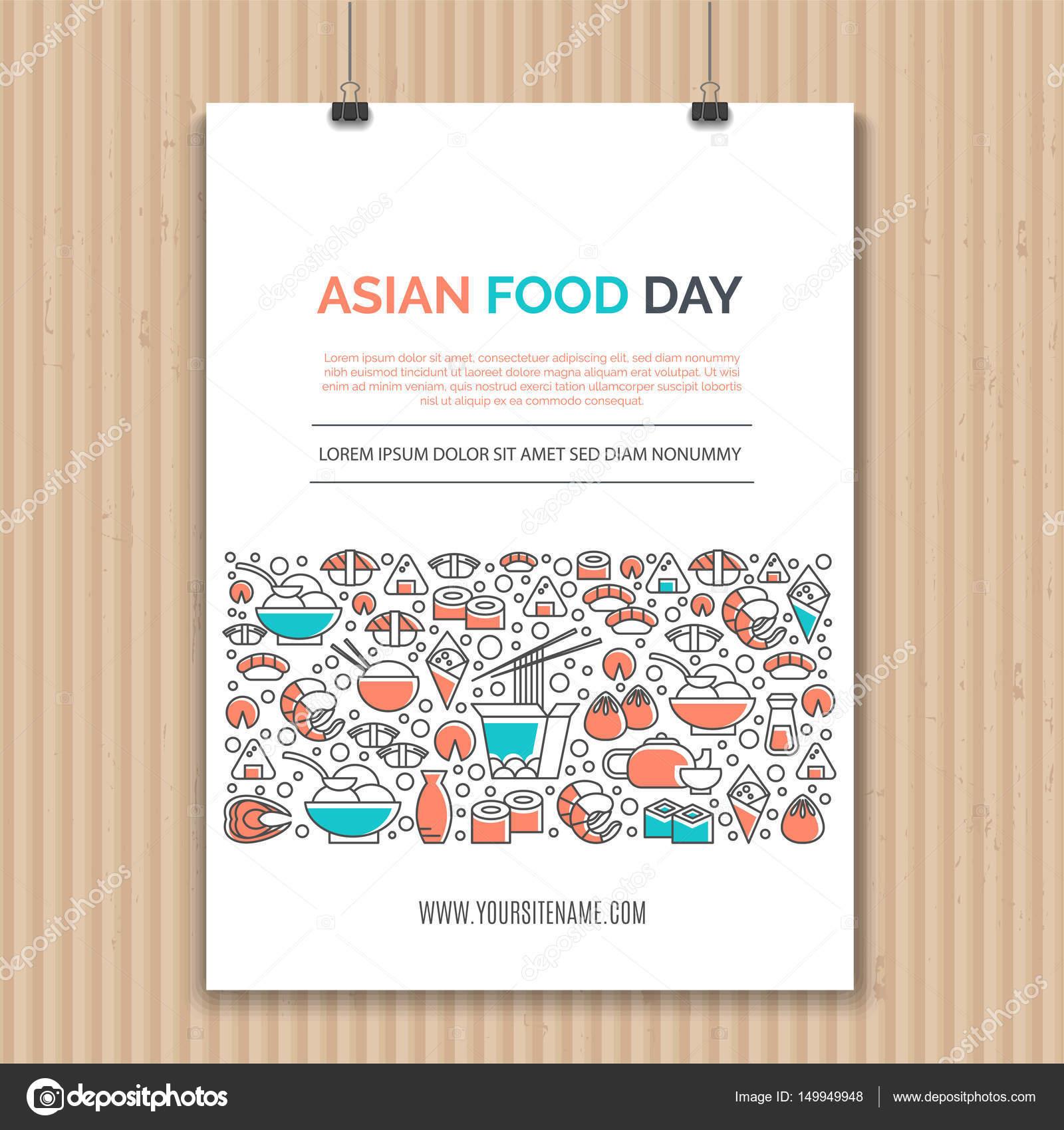 Kuchnia Azjatycka Szablony Grafika Wektorowa