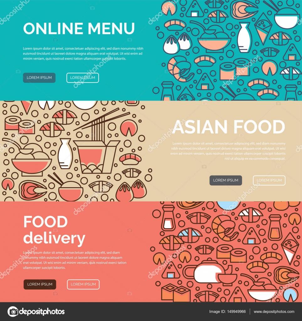 Asiatische Küche-Vorlagen — Stockvektor © SvetaGaintseva #149949966