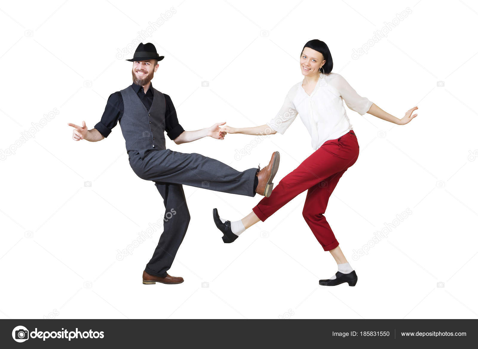 Berühmt Lindy Hop oder Rocknroll Tanz Boogie Woogie Tänzer — Stockfoto @LM_37